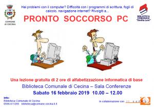 Pronto Soccorso PC @ Biblioteca Comunale ddi Cecina