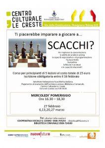 Corso di Scacchi @ Biblioteca Comune di RosignanoSolvay