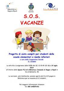 SOS Compiti alla Biblioteca di Bagno a Ripoli @ Biblioteca Comunale di Bagno a Ripoli