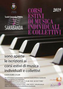 Corsi Estivi di Musica individuali e collettivi - Scuola di Musica Sarabanda @ Scuola Comunale di Musica Sarabanda
