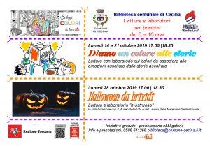 Halloween da Brividi - Biblioteca Comunale di Cecina @ Sala Ragazzi presso la Biblioteca Comunale di Cecina