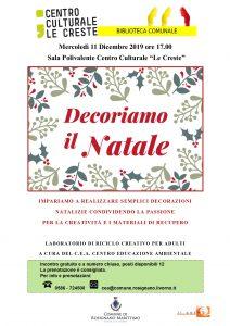 Decoriamo il Natale! @ Sala Polivalente Centro Culturale Le Creste